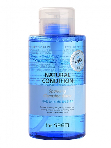 Вода мицеллярная The Saem Natural Condition Sparkling Cleansing Water, 500 мл