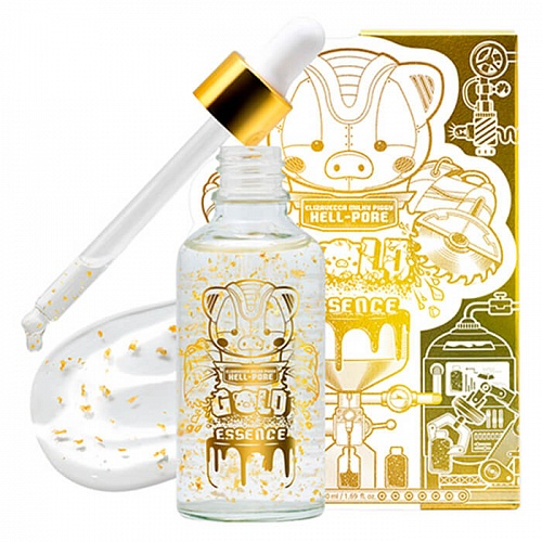 Эссенция для лица с ЗОЛОТОМ Elizavecca MILKY PIGGY HELL-PORE GOLD ESSENCE, 50 мл