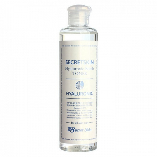 Тонер для лица с гиалуроновой кислотой Secret Skin Hyaluronic Bomb Toner, 250 мл